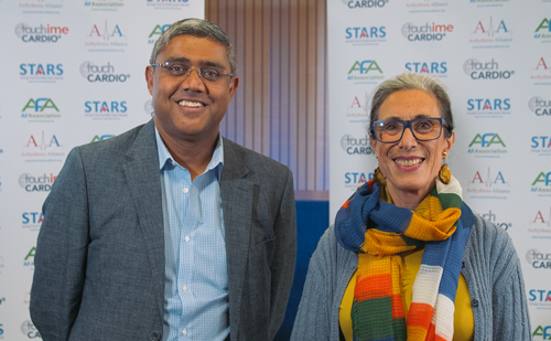 Kim Rajappan and Pam Bertschinger, HRC 2019 – Atrial Fibrillation